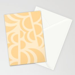 Tangerine Slices Abstract Pattern Stationery Cards