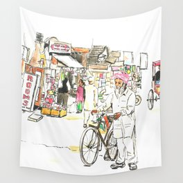 Bustling India Wall Tapestry