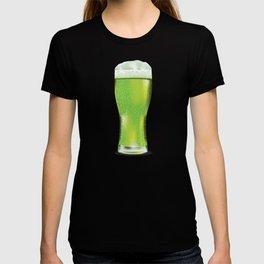 Green beer glass T-shirt
