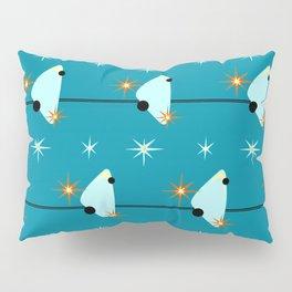 Atomic Birds On A Wire Pillow Sham