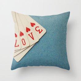 A Full House Throw Pillow