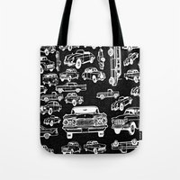 cars Tote Bags featuring Cars by liberthine01