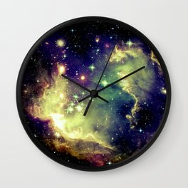 Nebula Galaxy (deep pastels) Wall Clock