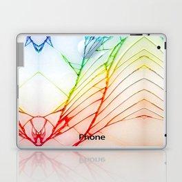 Rainbow Broken Damaged Cracked out back White iphone Laptop & iPad Skin
