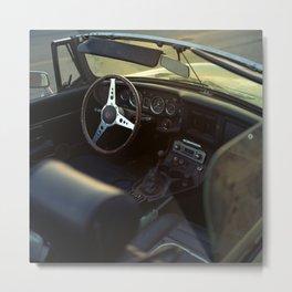 MGB Car On Film Metal Print