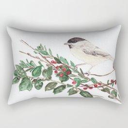 Black-capped Chickadee Rectangular Pillow