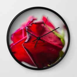 Single Red Rose, photography Wall Clock