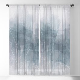 Ameythist Crystal Inspired Modern Abstract Sheer Curtain