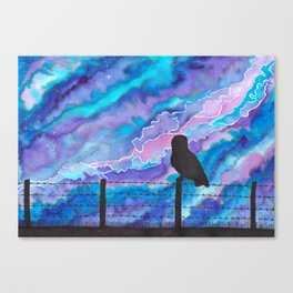 Galaxy Owl Canvas Print