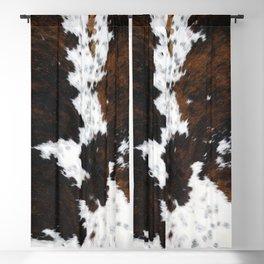Brown Cowhide, Farmhouse decor Blackout Curtain