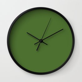 Perfect Day at the Pond ~ Lily Pad Green Wall Clock