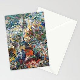 Battle of Lights, Coney Island, Mardi Gras by Joseph Stella Stationery Cards