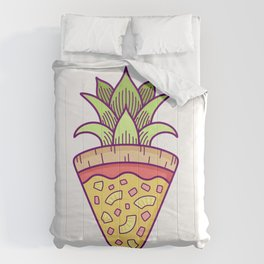 Pineapple Pizza Coat of Arms Comforters