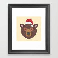 Santa Bear Framed Art Print