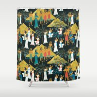 egypt Shower Curtains featuring ancient Egypt by kociara