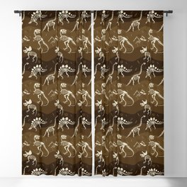 Fossil Dinosaur Pattern Blackout Curtain