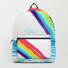 rainbow in the beach Backpack