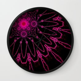 The Modern Flower Electric Fucshia Wall Clock