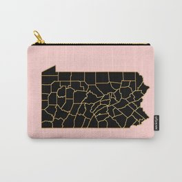 Pennsylvania map Carry-All Pouch