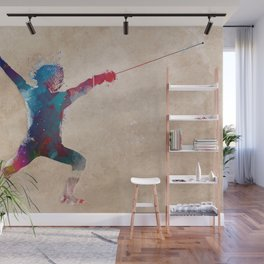fencing sport art #fencing #sport Wall Mural