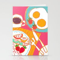 breakfast Stationery Cards featuring Breakfast by AW illustrations