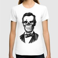 lincoln T-shirts featuring Lincoln Skull by BIOWORKZ