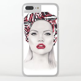 Fashion Illustration*Fashion girl* Clear iPhone Case