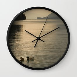Calm lake Wall Clock