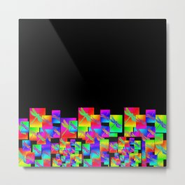 Rainbow Patterns Metal Print