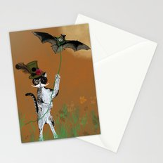 Cat Walking His Bat Stationery Cards