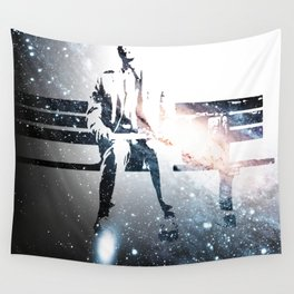 FORREST ON A BENCH & COSMOS Wall Tapestry