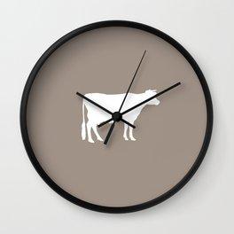 Cow: Beige Wall Clock