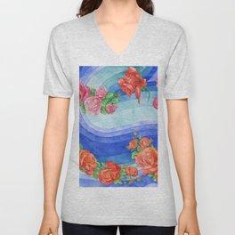 Roses_Above a waves Unisex V-Neck
