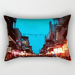 New Orleans Bourbon Street Dusk Rectangular Pillow