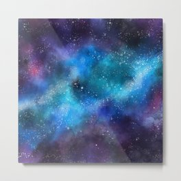 Abstract Galaxy Space Paint Pattern Texture #9 Metal Print
