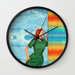 Touch the rainbow Wall Clock