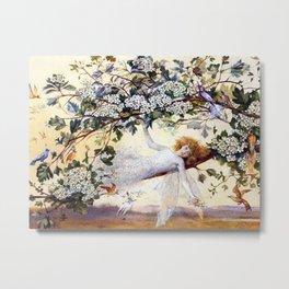 Fairy Resting Metal Print