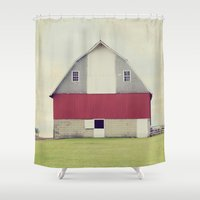american beauty Shower Curtains featuring American Beauty Vol 17 by Farmhouse Chic