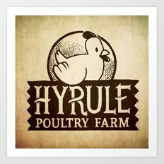 Hyrule Poultry Farms Art Print