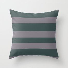 Magic Dust Muted Purple PPG13-24 Bold Hand Drawn Horizontal Stripes on Night Watch PPG1145-7 Throw Pillow