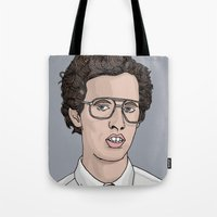 napoleon Tote Bags featuring Napoleon Dynamite  by Steph Bourne