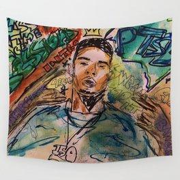 G herbo,poster,art,music,lyrics,decor,painting,small,canvas,rap,rapper,hiphop,ptsd,album,dope,street Wall Tapestry