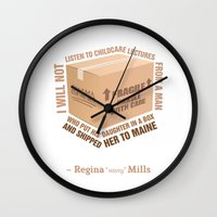 regina mills Wall Clocks featuring Regina Sassy Mills | Childcare Lectures by CLM Design
