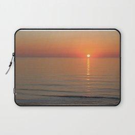 Symphony in Orange Ocean Sunrise Laptop Sleeve