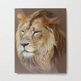 Painting Lion Metal Print