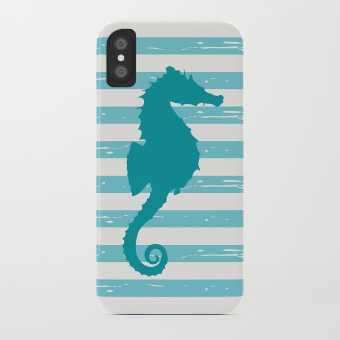 AFE Turquoise Seahorse iPhone Case