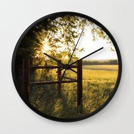 Oklahoma Summer Wall Clock