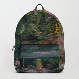 gouache plants Backpack