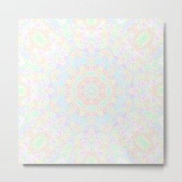 Pastel Swirl Mandala 2 Metal Print