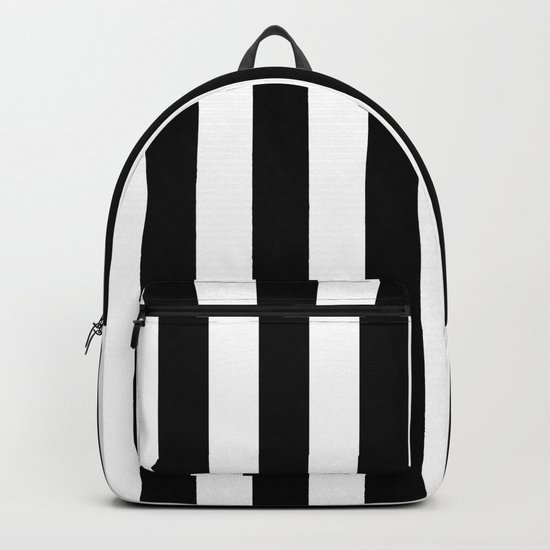 Parisian Black & White Stripes (vertical) by vintageappeal623
